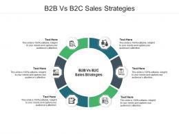 B2B Vs B2C Sales Strategies Ppt Powerpoint Presentation Slides Sample Cpb