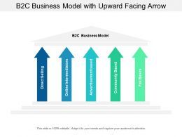 B2c Business Model With Upward Facing Arrow