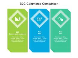 B2C Commerce Comparison Ppt Powerpoint Presentation Infographics Graphics Download Cpb