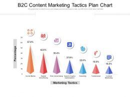 B2C Content Marketing Tactics Plan Chart