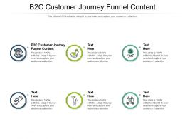 B2C Customer Journey Funnel Content Ppt Powerpoint Presentation Ideas Tips Cpb