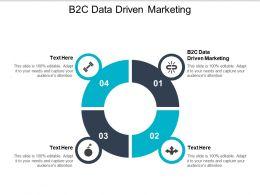 B2c Data Driven Marketing Ppt Powerpoint Presentation File Visuals Cpb
