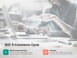 B2C E Commerce Cycle Ppt Powerpoint Presentation File Graphic Images Cpb