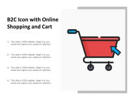 B2c Icon With Online Shopping And Cart