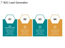 B2C Lead Generation Ppt Powerpoint Presentation Ideas File Formats Cpb