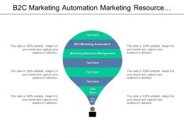 B2c Marketing Automation Marketing Resource Management Marketing Engagement Cpb