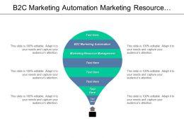 B2c Marketing Automation Marketing Resource Management Marketing Engagement Cpb