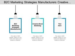 B2c Marketing Strategies Manufacturers Creative Event Marketing Marketing Strategy Cpb