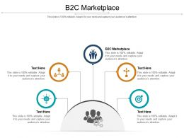 B2C Marketplace Ppt Powerpoint Presentation Pictures Icon Cpb