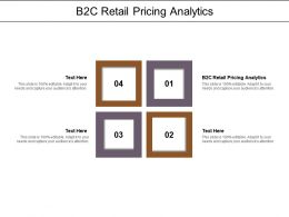 B2C Retail Pricing Analytics Ppt Powerpoint Presentation Inspiration Designs Cpb