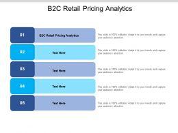 B2C Retail Pricing Analytics Ppt Powerpoint Presentation Layouts Good Cpb
