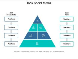 B2C Social Media Ppt Powerpoint Presentation Pictures Visual Aids Cpb