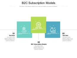 B2C Subscription Models Ppt Powerpoint Presentation Styles Infographics Cpb