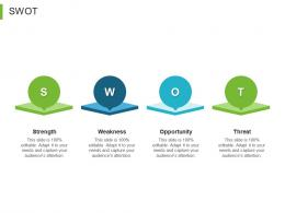B To B Marketing SWOT Ppt Powerpoint Presentation Infographic Template Visuals