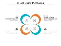 B To B Online Purchasing Ppt Powerpoint Presentation Layouts Influencers Cpb