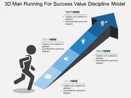 ba 3d Man Running For Success Value Discipline Model Flat Powerpoint Design
