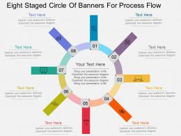 ba Eight Staged Circle Of Banners For Process Flow Flat Powerpoint Design
