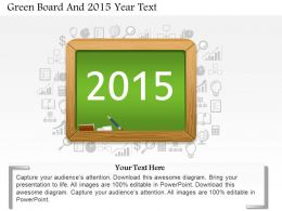Ba Green Board And 2015 Year Text Powerpoint Template
