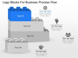 ba Lego Blocks For Business Process Flow Powerpoint Template