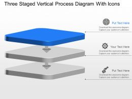 Ba Three Staged Vertical Process Diagram With Icons Powerpoint Template Slide