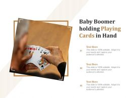 Baby Boomer Holding Playing Cards In Hand