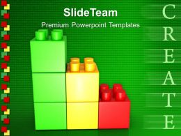 Baby Building Blocks Powerpoint Templates Create Lego Graph Business Ppt Slides