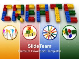 Baby Building Blocks Powerpoint Templates Create Word Lego Business Ppt Slides