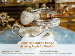 Baby Dedication Image Showing Tools For Baptism