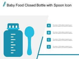 Baby Food Closed Bottle With Spoon Icon