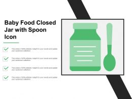 Baby Food Closed Jar With Spoon Icon