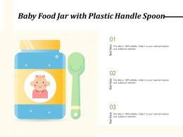 Baby Food Jar With Plastic Handle Spoon