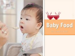Baby Food Symbol Plastic Handle Glass Person Selective