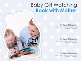 Baby Girl Watching Book With Mother