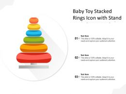 Baby Toy Stacked Rings Icon With Stand