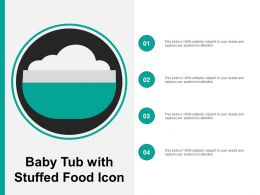 Baby Tub With Stuffed Food Icon