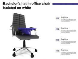 Bachelors Hat In Office Chair Isolated On White
