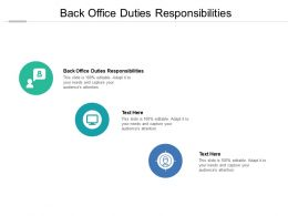 Back Office Duties Responsibilities Ppt Powerpoint Presentation Infographic Template Skills Cpb