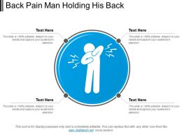 Back Pain Man Holding His Back