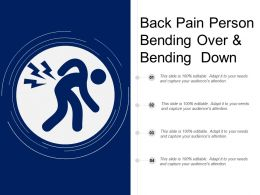 Back Pain Person Bending Over And Bending Down