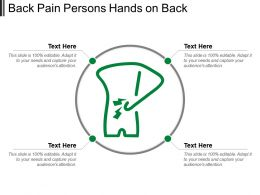 Back Pain Persons Hands On Back