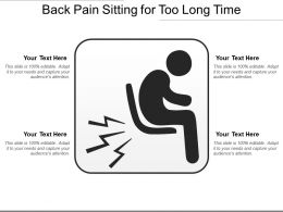 Back Pain Sitting For Too Long Time