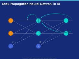 Back Propagation Neural Network In AI Ppt Powerpoint Presentation Styles