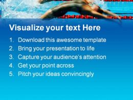 Back Stroke Swimming Sports PowerPoint Templates And PowerPoint Backgrounds 0511