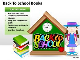Back To School Books Powerpoint Presentation Slides
