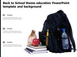 Back To School Theme Education Powerpoint Template And Background