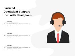 Backend Operations Support Icon With Headphone