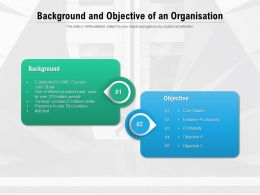 Background And Objective Of An Organisation
