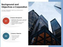 Background And Objectives A Corporation