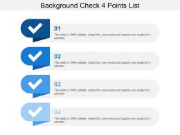 Background Check 4 Points List