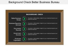 Background Check Better Business Bureau